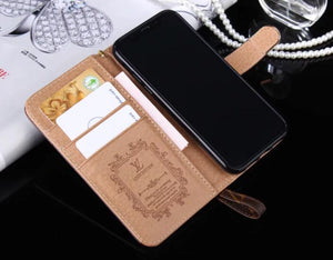 high quality leather wallet case For  iPhone 11/iPhone 11 Pro/ iPhone 11 Pro Max 8/7/6/7plus/ix/12 Pro Max /mini(Need You Select Size)