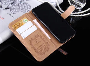 high quality leather wallet case For  iPhone 11/iPhone 11 Pro/ iPhone 11 Pro Max /ix 6 7 8 /12 Pro Max /mini plus(Need You Select Size)887p