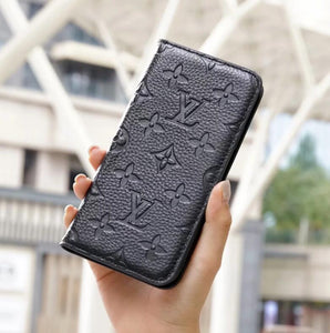 Genuine Leather wallet case for iPhone 12/11 Pro Max/ Xs Max/XR/6s Plus/7 plus/8 plus (Need You Select Size) K8L9E3