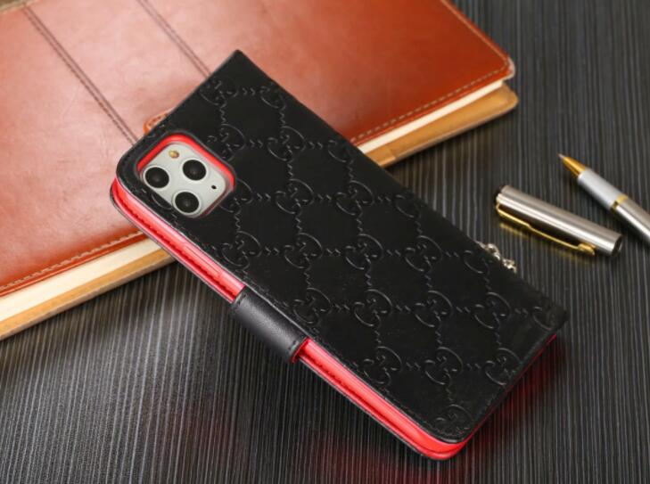 Genuine Leather For iPhone 11 Pro Max/Xs MAX/XR/6/7/8 Plus  wallet case (Need You Select Size) 4t67u8
