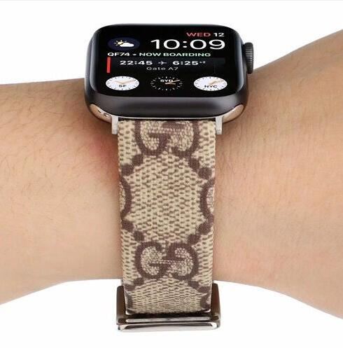 Genuine Leather style leather strap, Apple watch strap, small Monogram band, Apple Watch 44/40/42mm/38mm FT1027-141