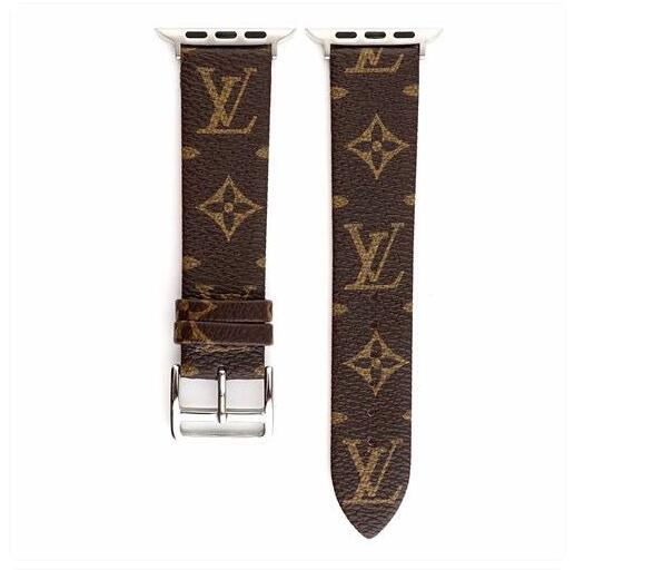 Genuine Leather style leather strap, Apple watch strap, small Monogram band, Apple Watch 38mm40/42/44MM FT1027-141