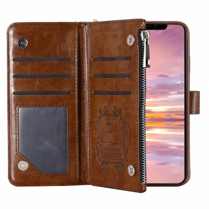 leather wallet case For iPhone For iPhone 12 Pro Max/11Pro XS Max/XR/6s Plus/7 Plus/8 plus (Need You Select Size) leather wallet case P2233