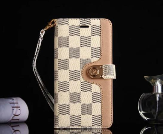 style case for Samsung galaxy s9/galaxy s9 Plus/S8/S20 Plus/s20 Note 20 Ultra/Note 10/9/8/5 leather wallet cover White Damier