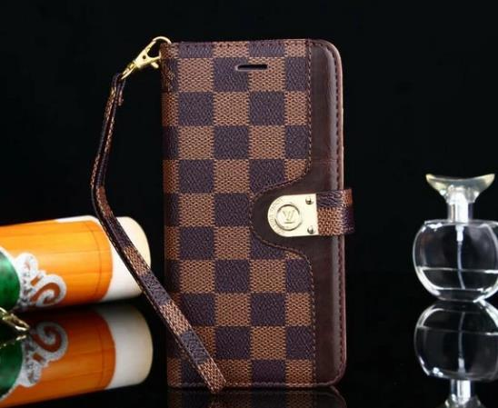 style case for Samsung galaxy s9/galaxy s9 Plus/S8/S20 Plus/s20 Note 20 Ultra/Note 10/9/8/5 leather wallet cover Brown Damier