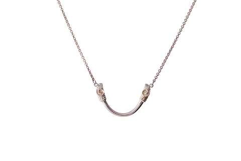 Twin Head Rams Necklace