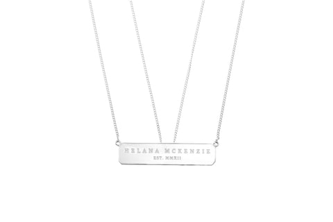 Plaque Necklace