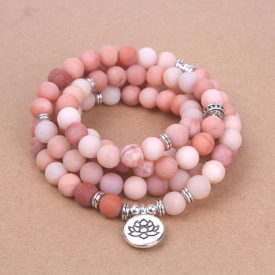 Pink Stoned Mala Bracelet - Sports Illustrated Yoga