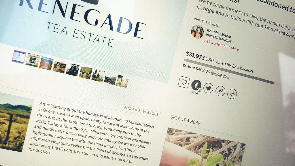 Renegade Tea Estate indiegogo