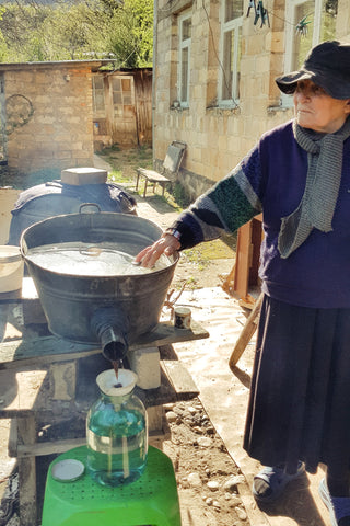 Cha-cha making in the village