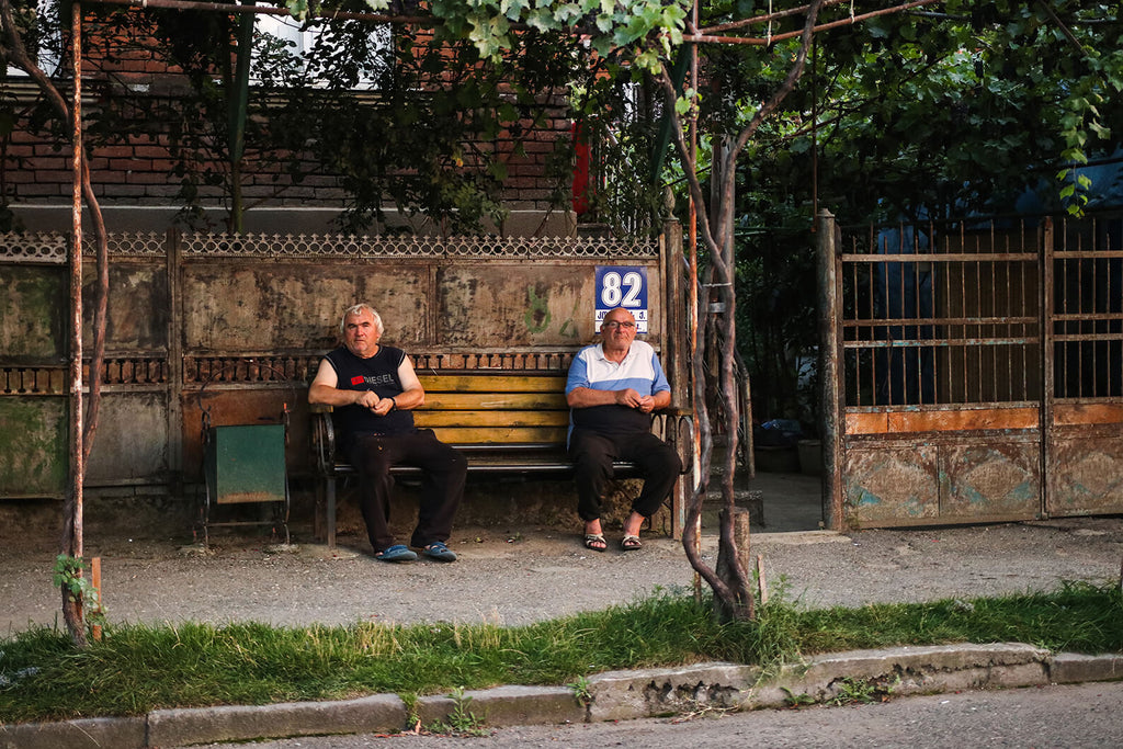 Men sitting in Kutaisi