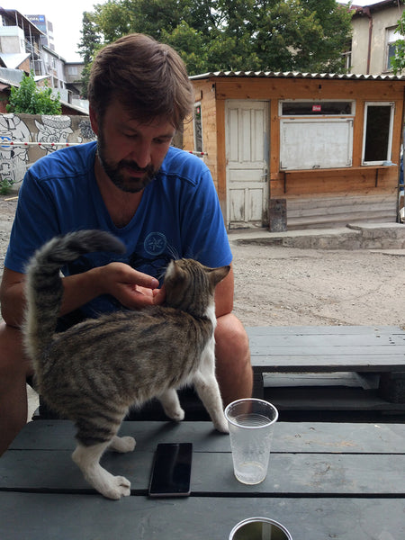Tomas and a cat