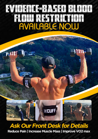 Blood Flow Restriction Cuffs Marketing Poster