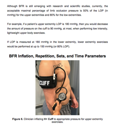 Blood Flow Restriction Protocols