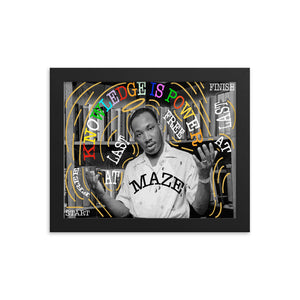 Framed Martin had dream print.-Mazetheartist