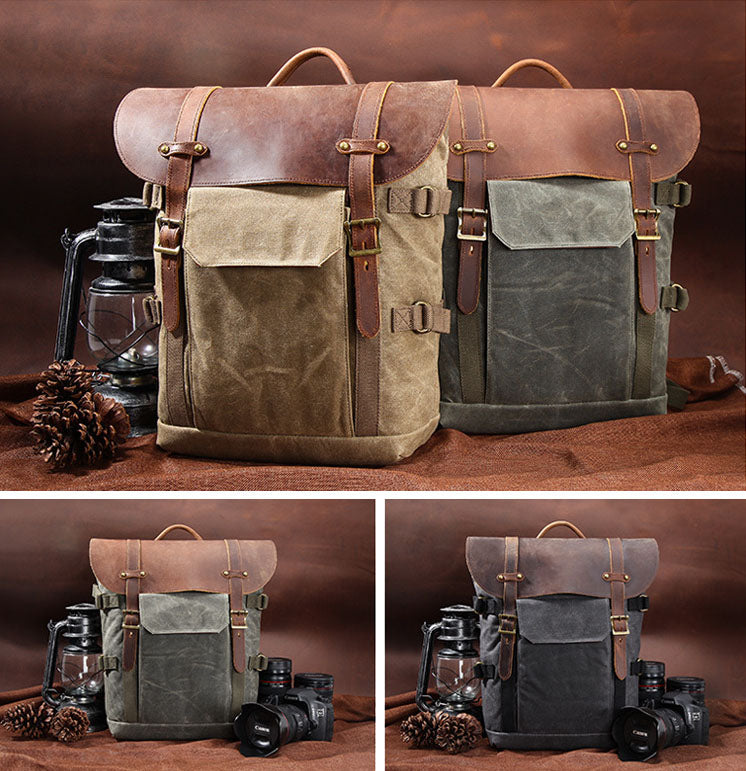 dslr camera backpack vintage