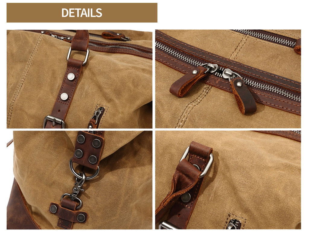 qaanaq canvas duffle bag details