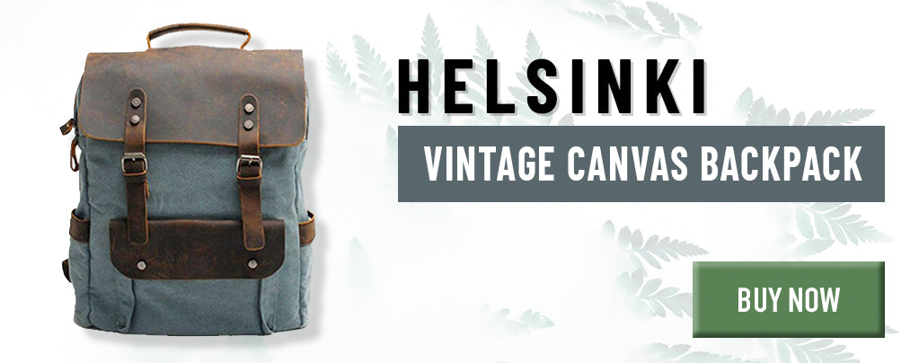 camping canvas backpack