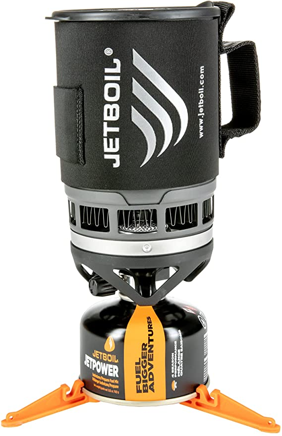 Jetboil Zip Camping Stove Cooking System, Carbon.