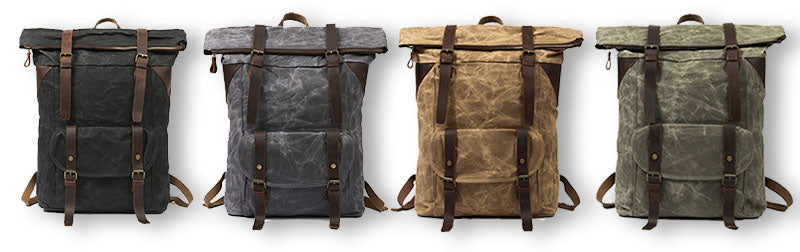Large Vintage Duffle Backpack Canvas & Leather colors holstebro