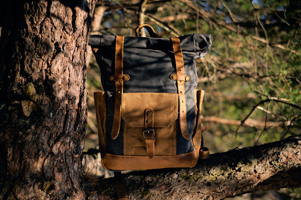 Copenhagen Vintage Rucksack Handbag on a tree