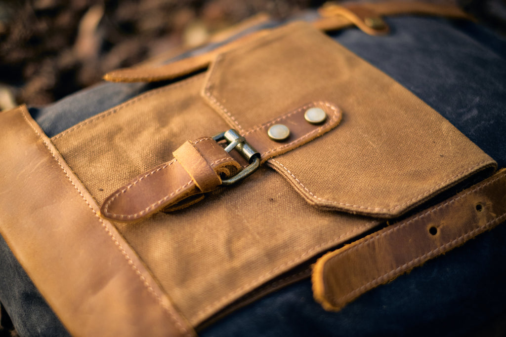 details of the Copenhagen Vintage Rucksack backpack