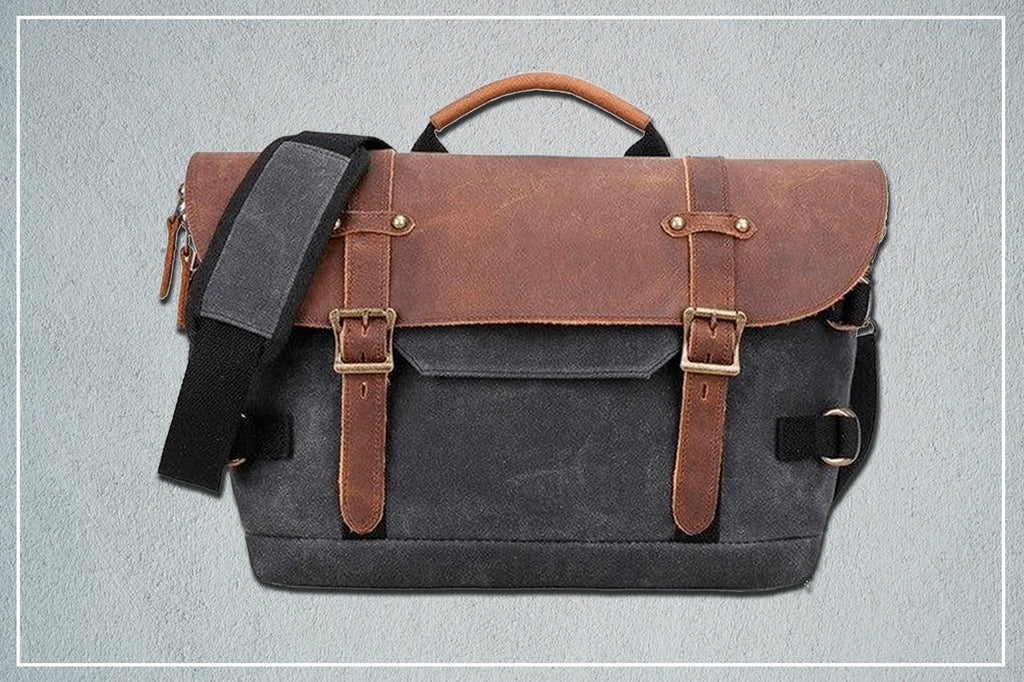 Washington canvas messenger bag