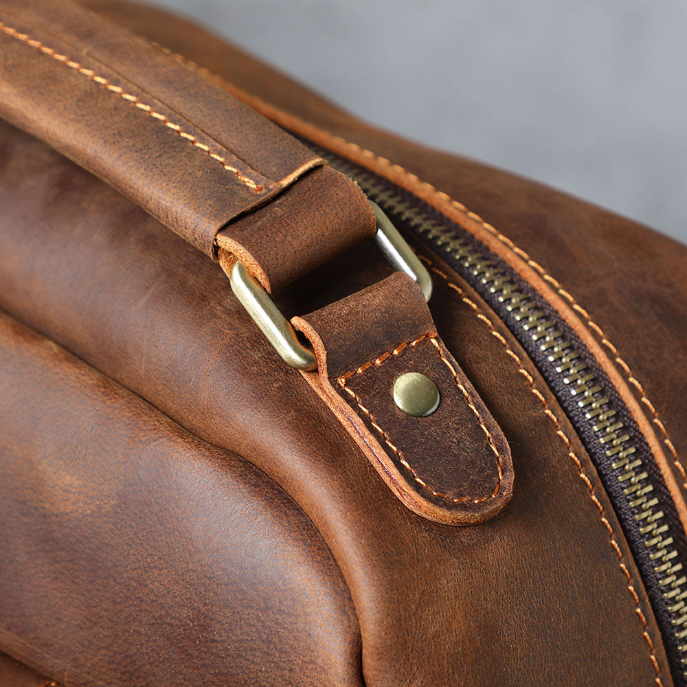 women's leather backpack top leather handle