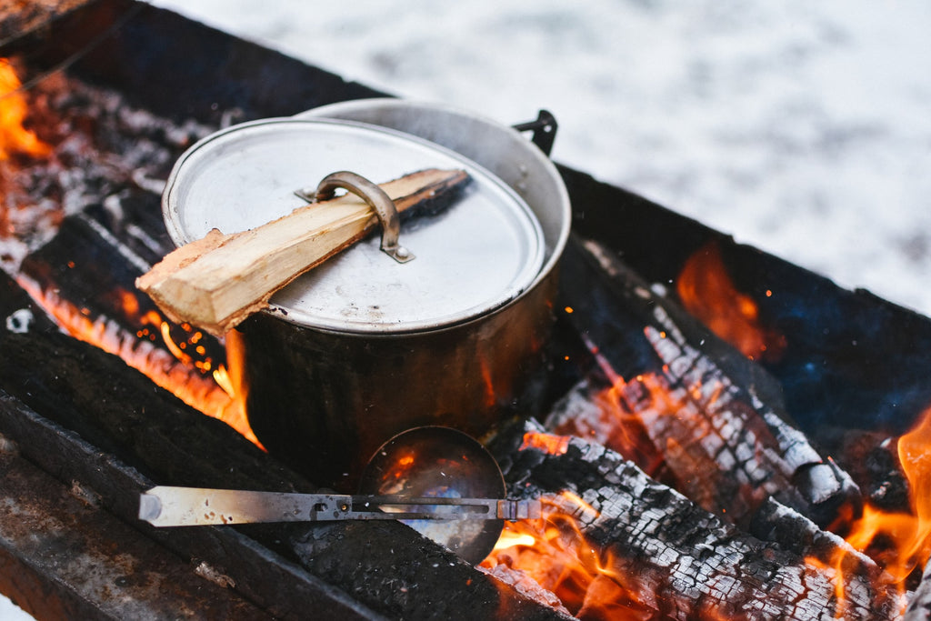 camping cooking in the wild