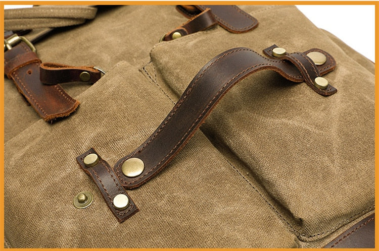 army waxed canvas backpack