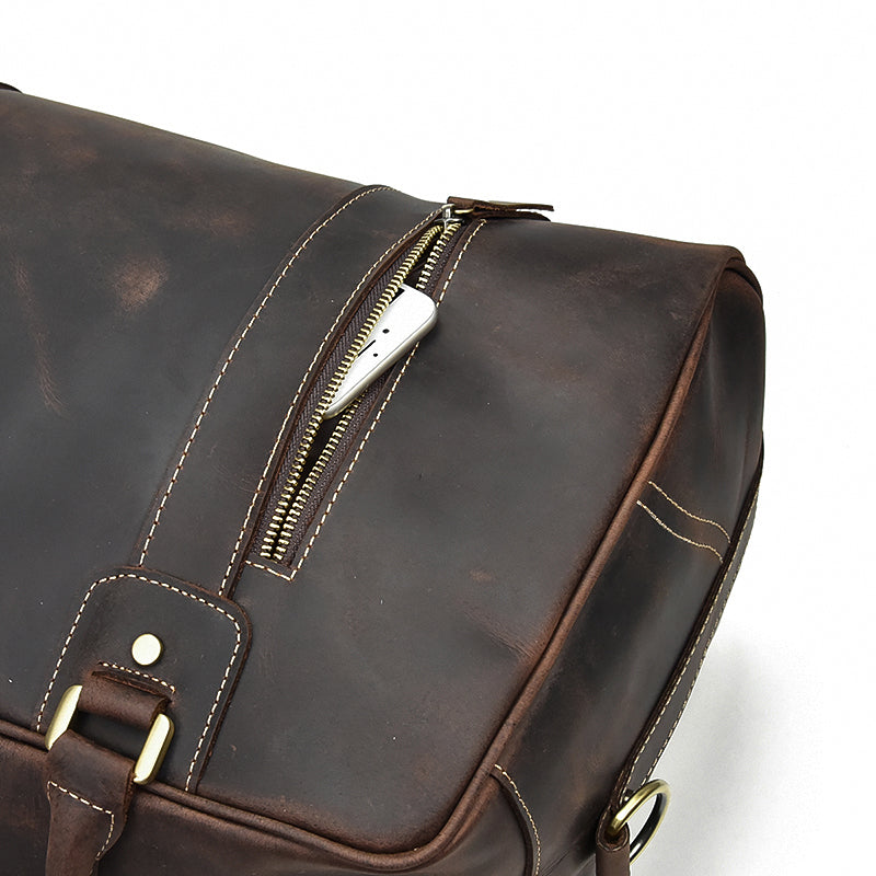 best leather overnight bag