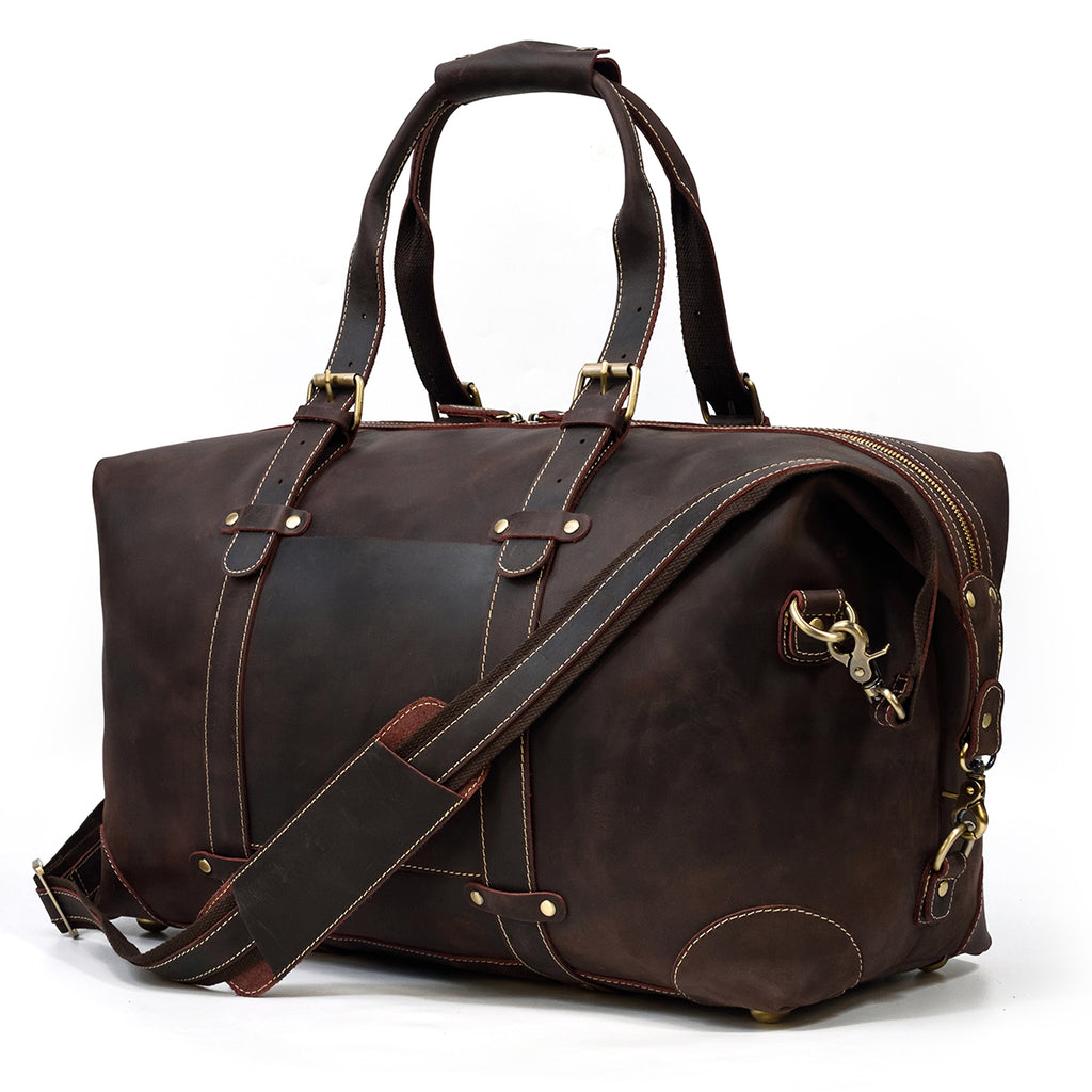 brown leather travel bag womens