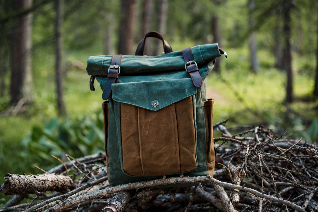 canvas roll top backpack
