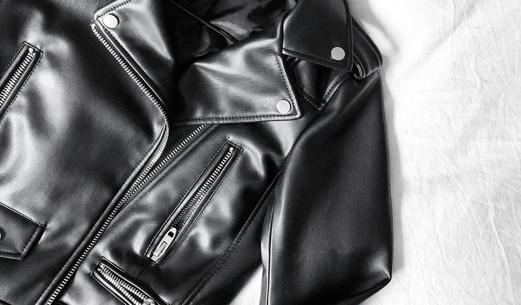 clean leather jacket