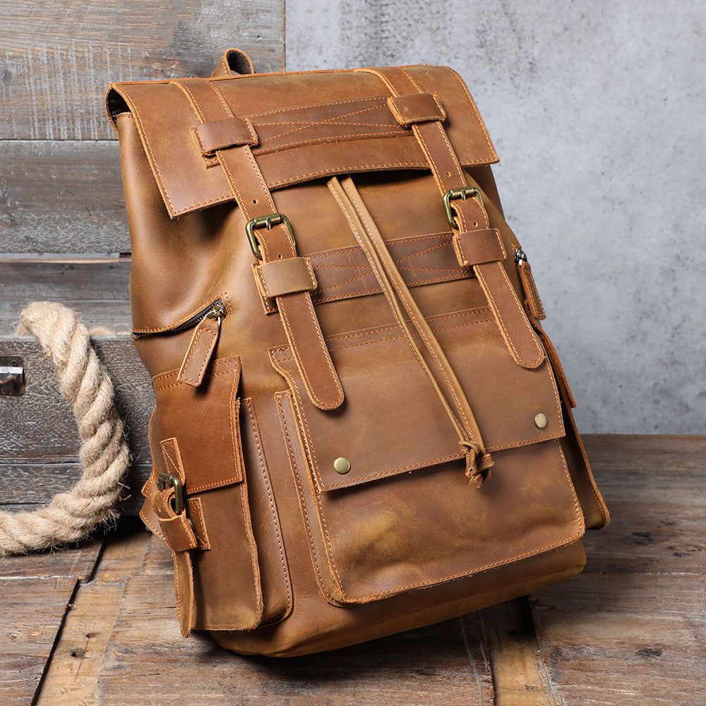 coffee color leather bag