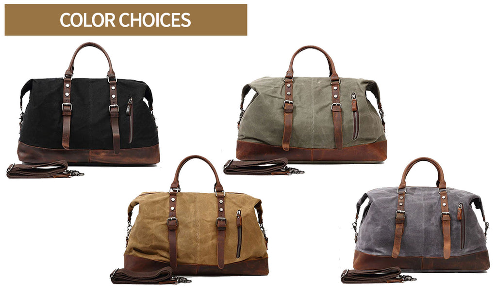 qaanaq canvas duffle bag color choice