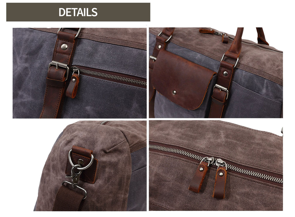 details apuka canvas messenger bag