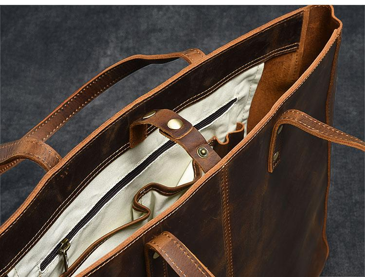 inside luxury leather tote bag for women