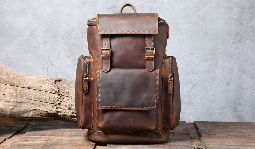 hore leather backpack