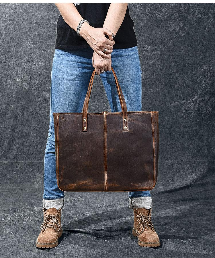 luxury leather tote bag for women