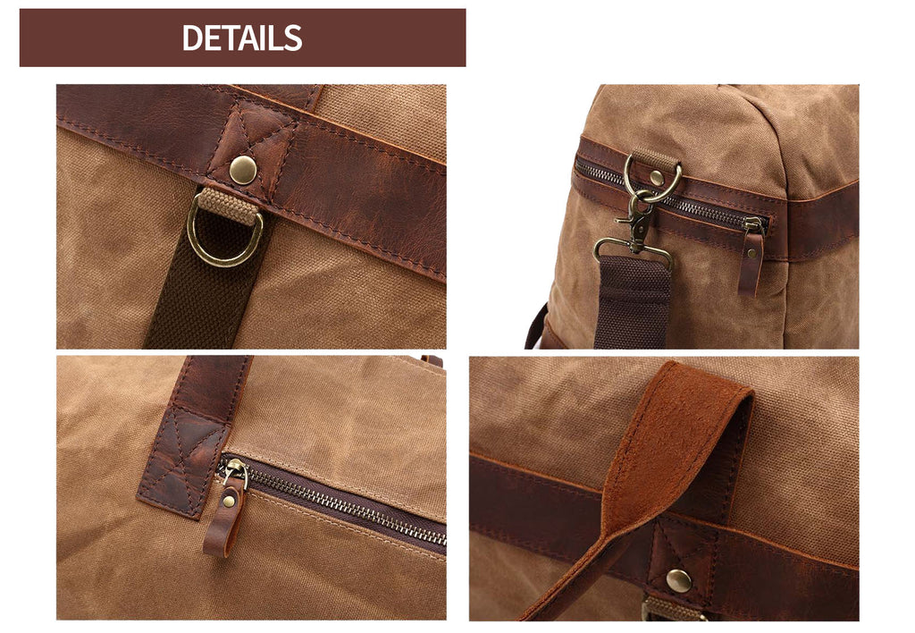 detail oaxaka travel duffle bag