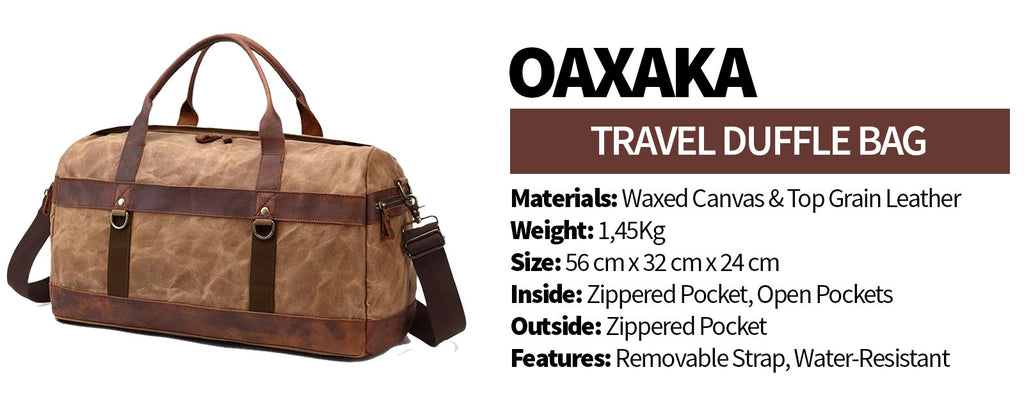 oaxaka travel duffle bag