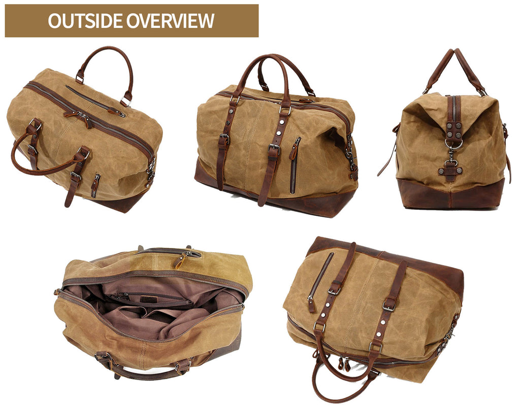 qaanaq canvas duffle bag outside overview