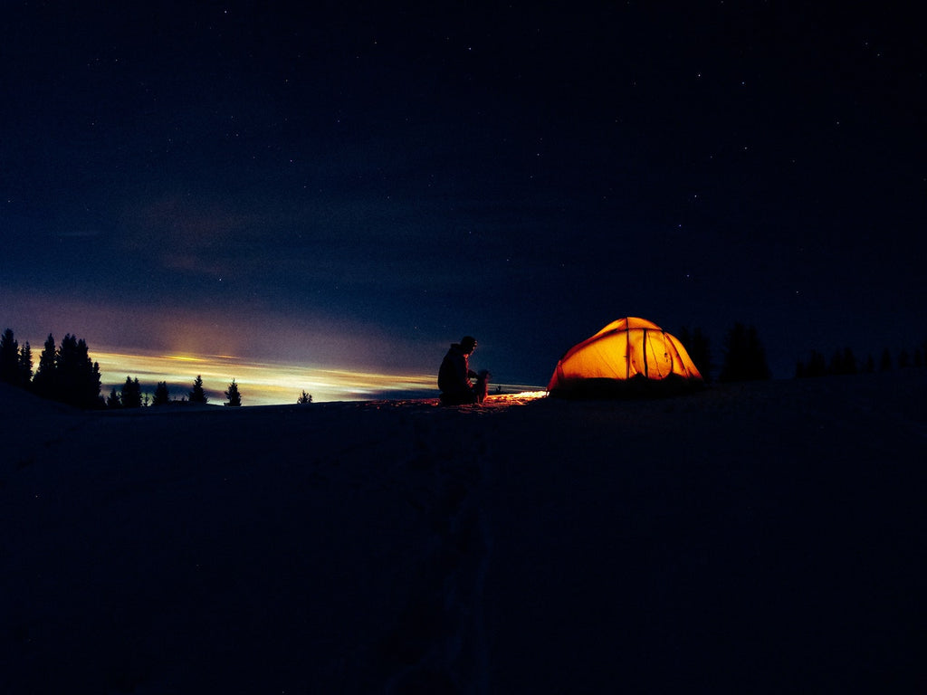 camping session at sunrise