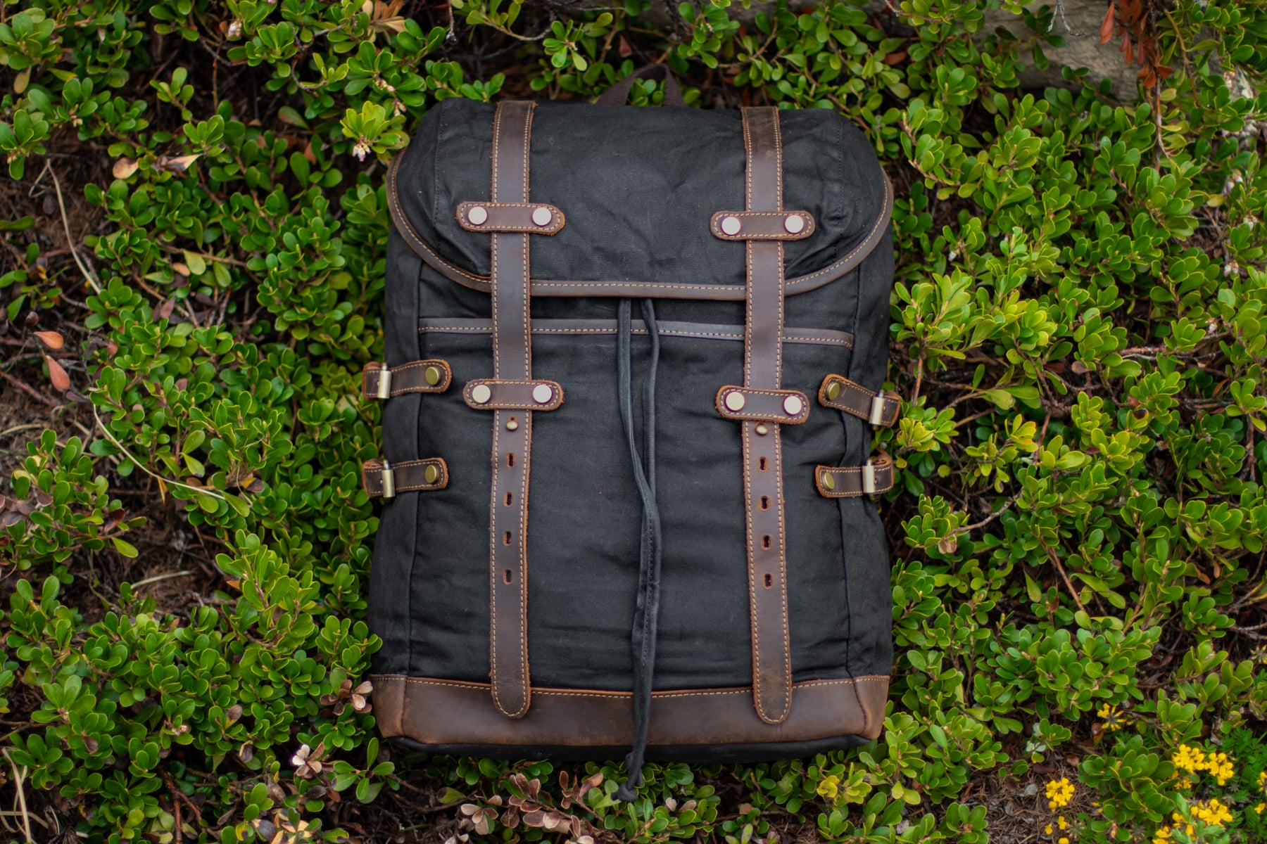 canvas retro style backpack