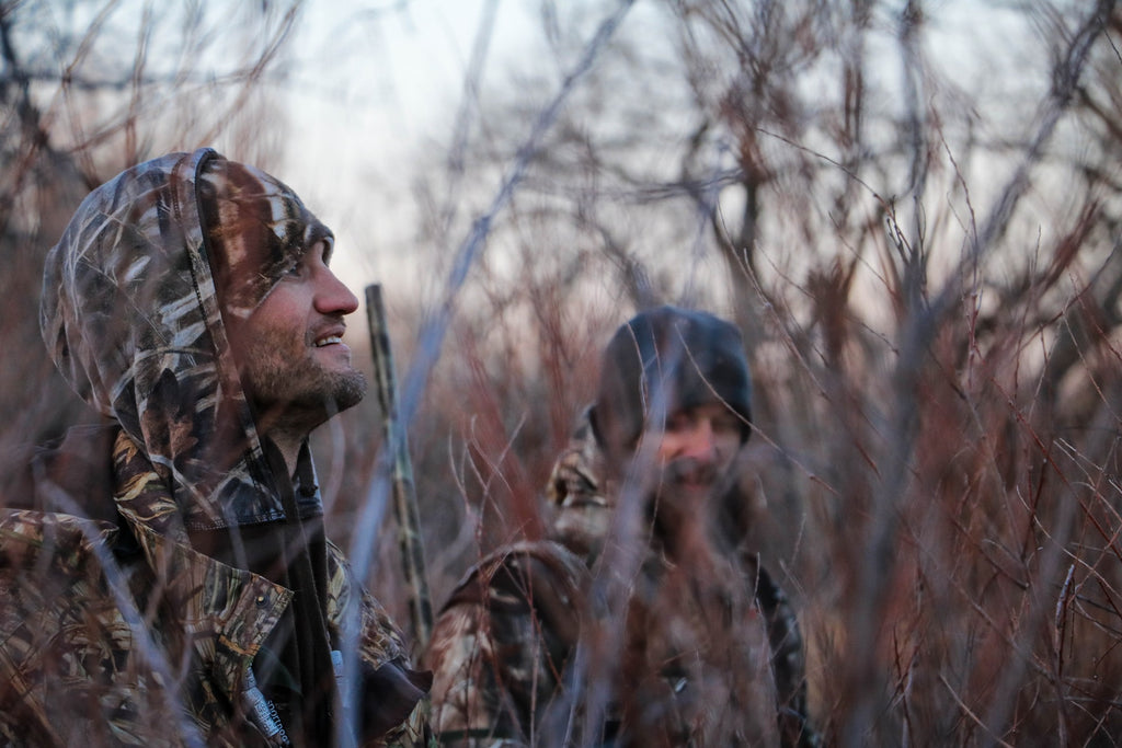 hunters in bushes