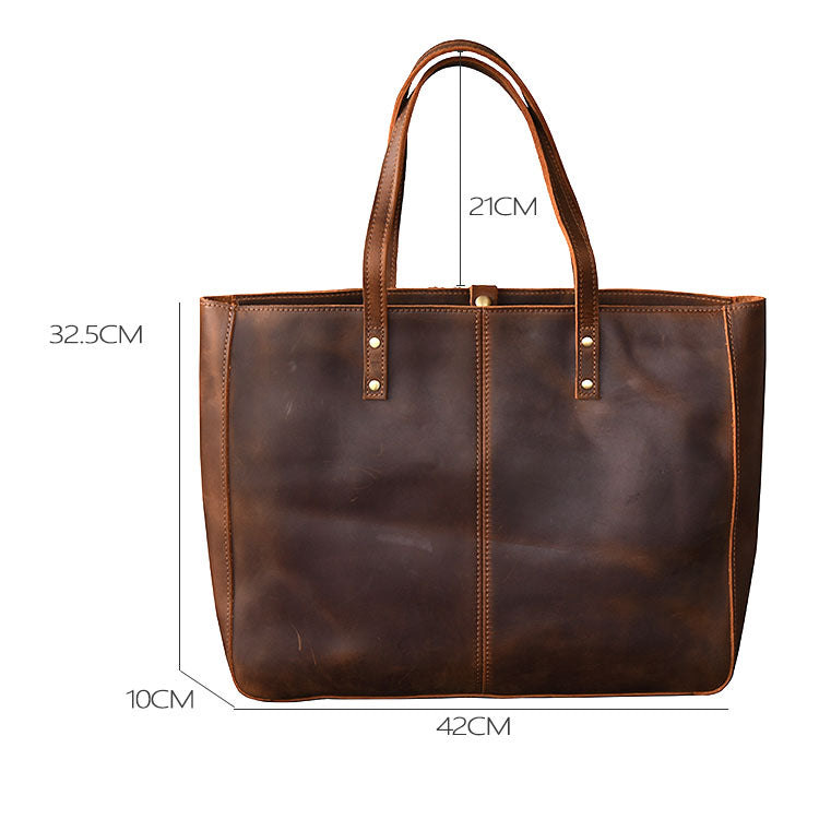 size luxury leather tote bag for women