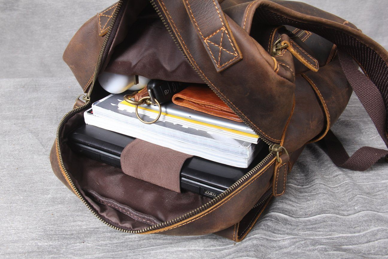 Tan Leather Backpack university