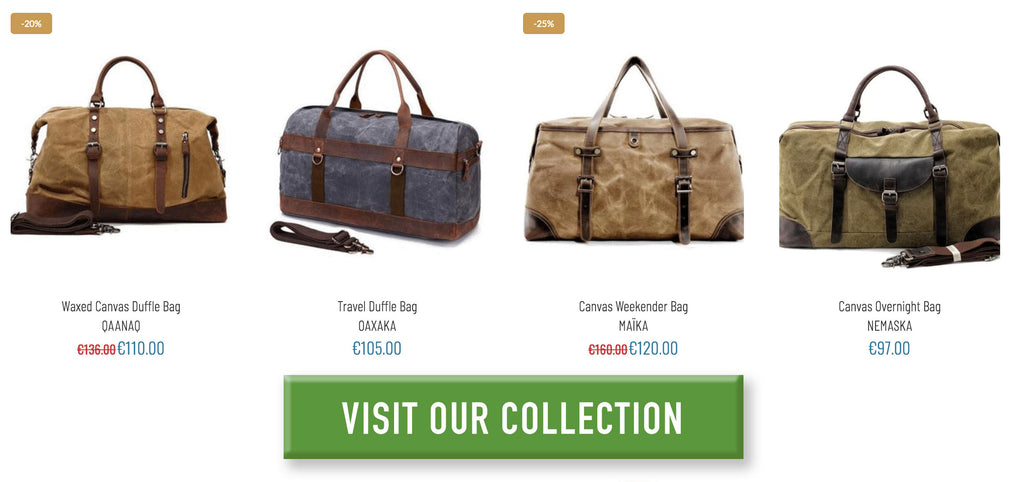 overnight bags, weekender bags and duffle bags from eiken shop