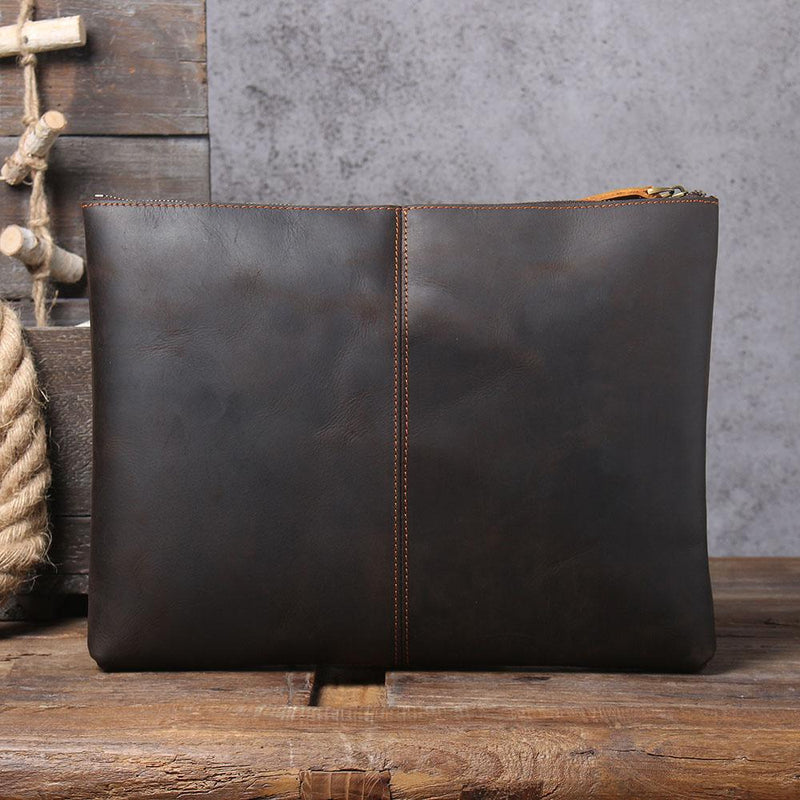 leather laptop pouch